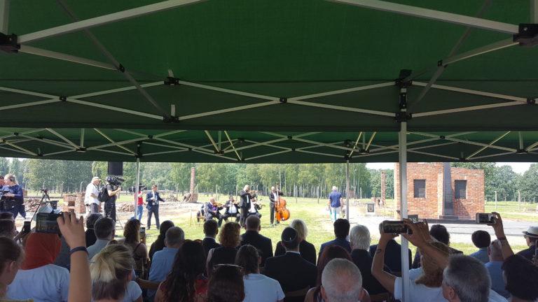 Internationale Gedenkfeier am 2. August 2018 in Auschwitz-Birkenau anlässlich des 74. Jahrestages der Mordaktion zur Vernichtung der Sinti und Roma am 2. August 1944