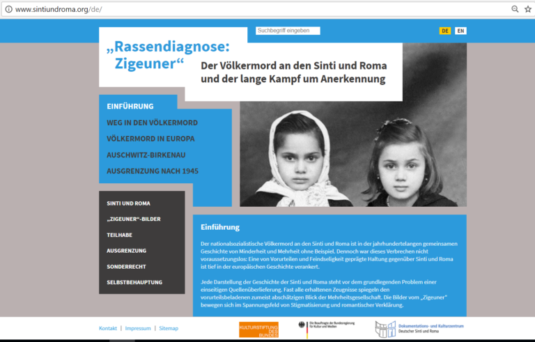Neues Onlineportal informiert über den Holocaust an den Sinti und Roma