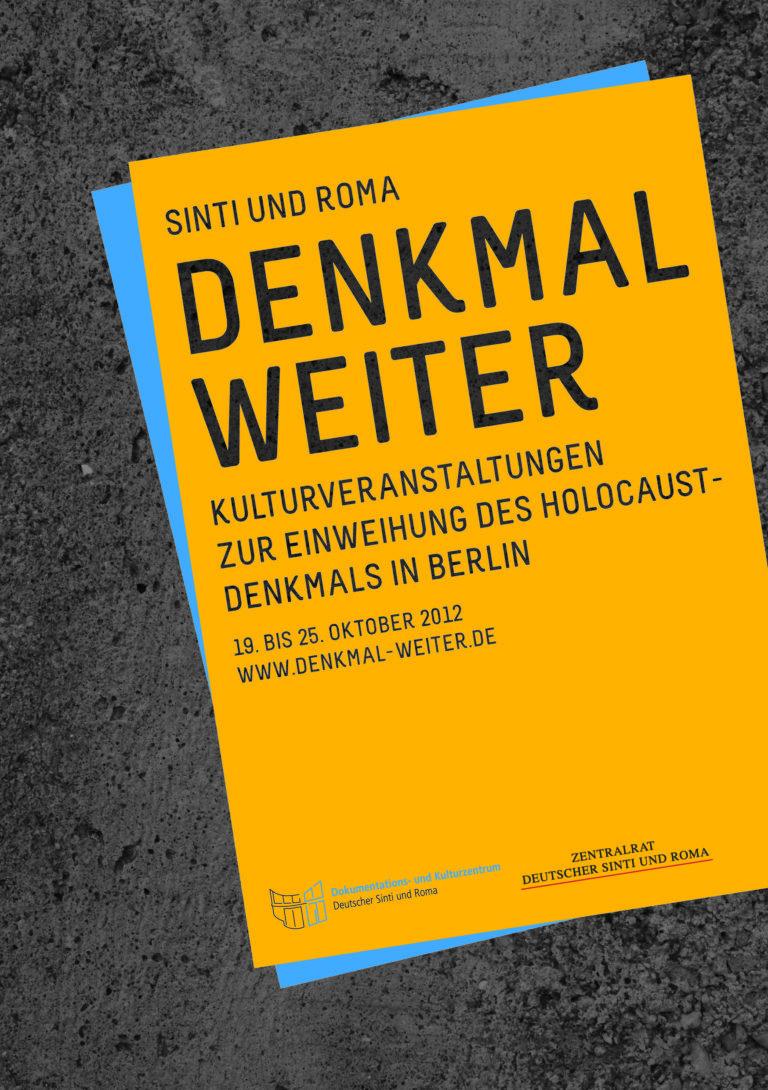 DENKMAL WEITER Kulturveranstaltungen zur Einweihung des Holocaust-Denkmals in Berlin DREI