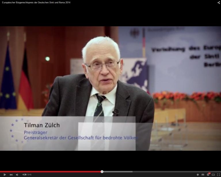 Film: Europäischer Bürgerrechtspreis der Sinti und Roma 2014