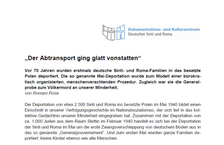 """""""Der Abtransport ging glatt vonstatten"""""""