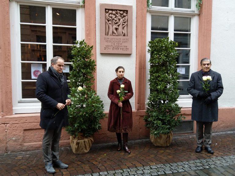 Stilles Gedenken zum 27. Januar in Heidelberg